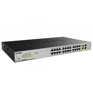 Суич D-Link 24-Port Desktop Gigabit PoE + 2GE Combo Switch (снимка 1)