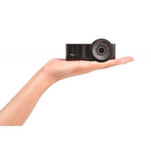 Дигитален проектор Преносим късофокусен мултимедиен проектор Optoma ML1050ST+ LED DLP Projector, White/Black (снимка 1)