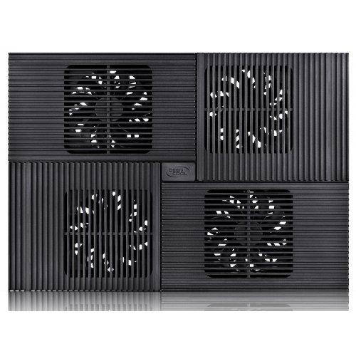 """Стенд за лаптоп DeepCool Охладител за лаптоп Notebook Cooler 17"""" MULTI CORE X8 - Black (снимка 1)"""