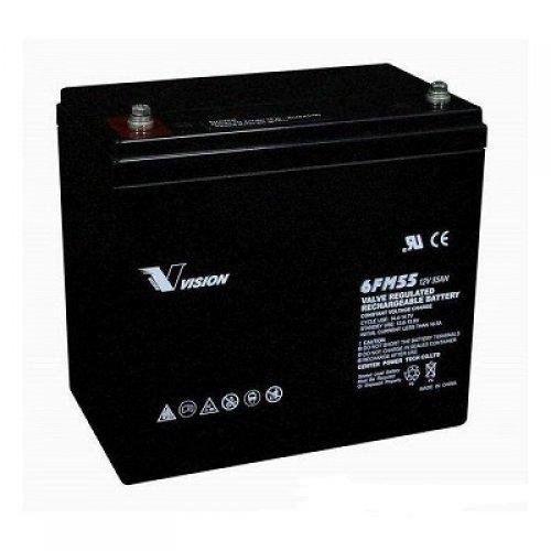 Батерия за UPS Vision 6FM55-X 12V 55Ah F11(M6), UPS тягова акумулаторна батерия (снимка 1)