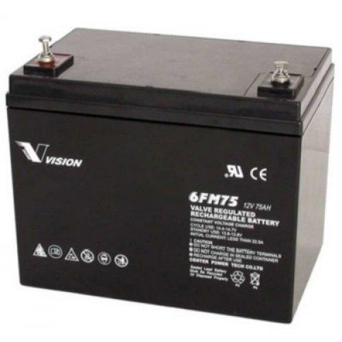 Батерия за UPS Vision 6FM75-X 12V 75Ah F11(M6), UPS тягова акумулаторна батерия (снимка 1)