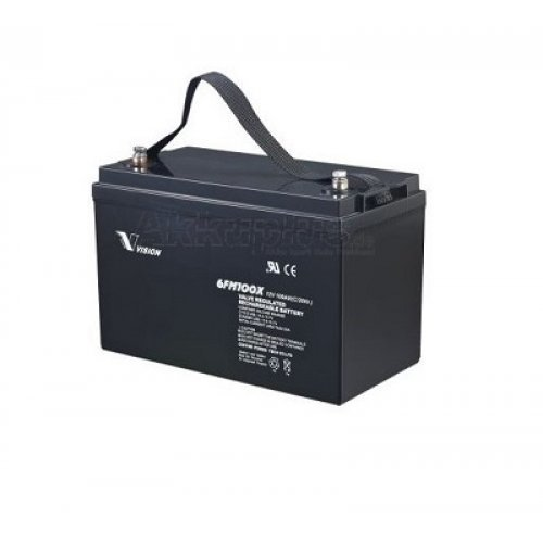 Батерия за UPS Vision 6FM100-X 12V 100Ah F12(M8), UPS тягова акумулаторна батерия (снимка 1)