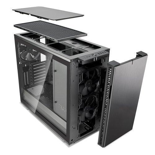 Компютърна кутия Fractal Design DEFINE R6 USB-C GUNM TGLASS  - темперирано стъкло (снимка 1)
