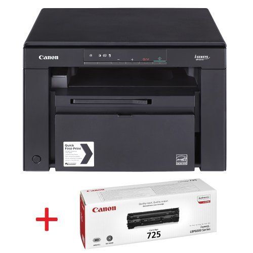 Принтер Canon i-SENSYS MF3010 Printer/Scanner/Copier + втори тонер Canon CRG725 Toner Cartridge (снимка 1)