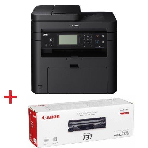 Принтер Canon i-SENSYS MF237w Printer/Scanner/Copier/Fax + втора касета Canon CRG-737 (снимка 1)
