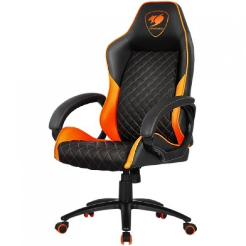 Геймърски стол COUGAR Fusion Orange Gaming Chair, diamond-check pattern,Class 4 gas lift cylinder,Dependable metal 5-star base,PU wheels,Weight Capacity - 120kg. (снимка 1)