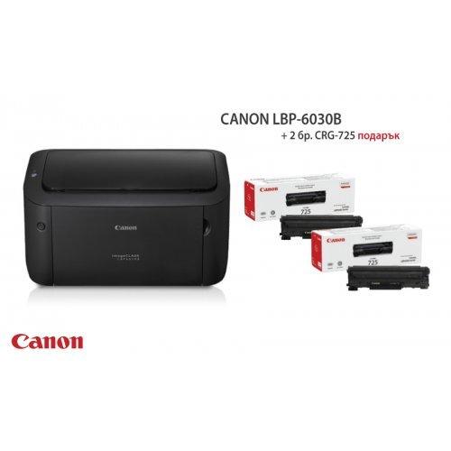 Принтер Canon i-SENSYS LBP6030B + 2броя тонер Canon CRG-725 (снимка 1)