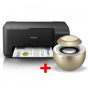 Принтер Epson L3110, C11CG87401, EcoTank ink bottles, USB с подарък безжична колонка Huawei AM08 (снимка 1)