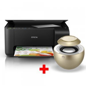 Принтер Epson L3150 WiFi MFP, C11CG86405, EcoTank ink bottles, USB с подарък безжична колонка Huawei AM08 (снимка 1)