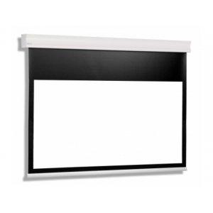 Екран за проектор CUMULUS 18-14 MG BT (16:10) Електрически екран с черна рамка и широка черна лента отгоре (снимка 1)