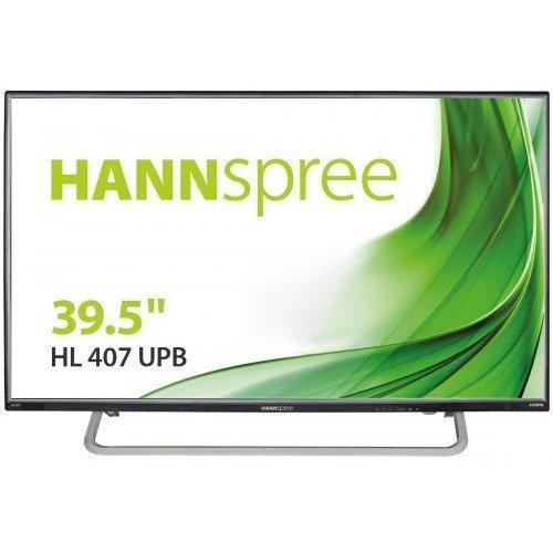 Монитор HANNSPREE HL407UPB, IPS, 39.5 inch, Wide, Full HD, D-Sub, HDMI, USB Media Player, Черен (снимка 1)