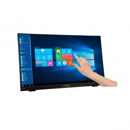 Монитор Тъч монитор HANNSPREE HT225HPB, LED, 21.5 inch, Wide, Full HD, DisplayPort DP, VGA, HDMI, Черен (снимка 1)
