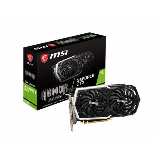 Видео карта nVidia MSI GTX1660Ti Armor 6G OC, GeForce GTX 1660 Ti, 6GB GDDR6, Power: 1x 8-pin, 243 x 129 x 42 mm (снимка 1)