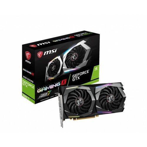 Видео карта nVidia MSI GTX1660TI Gaming X 6G, GeForce GTX 1660 Ti, 6GB GDDR6, Power: 1x 8-pin, 247 x 127 x 46 mm (снимка 1)
