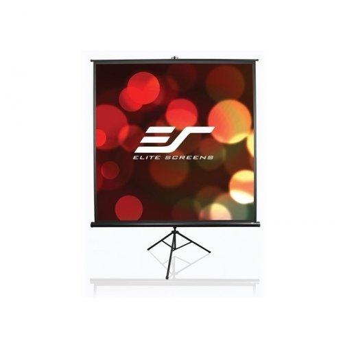 "Екран за проектор Elite Screen T99UWS1 Tripod, 99"" (1:1), 177.8 x 177.8 cm, Black (снимка 1)"