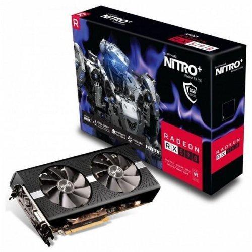 Видео карта Ati Sapphire AMD Radeon NITRO+ RX 590 8G, 8GB GDDR5 (снимка 1)