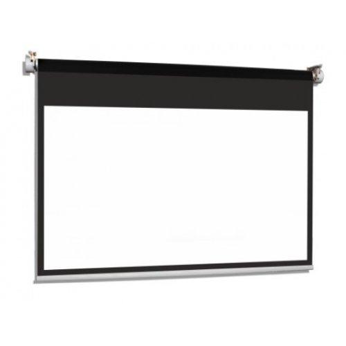 Екран за проектор SOLAR PROF 45-25 MWP BT (16:10) Електрически екран с черна рамка и лента отгоре (снимка 1)