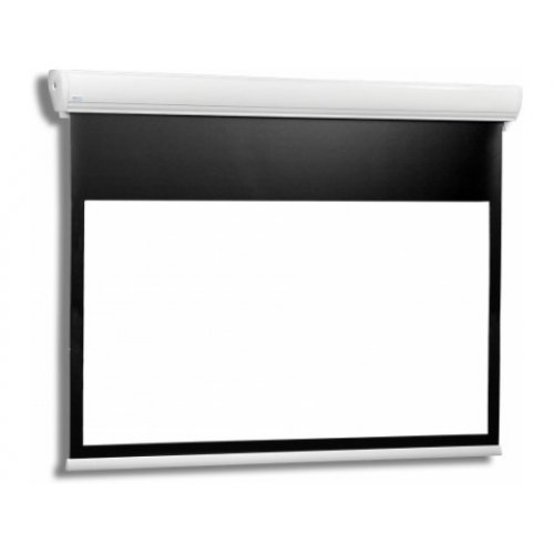 Екран за проектор STRATUS 2 18-14 MG BT (16:10) Електрически екран с черна рамка и широка черна лента отгоре (снимка 1)