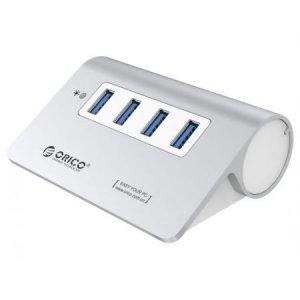 Заключващо устройство за лаптоп Хъб Orico M3H4 Aluminium USB3.0 4 порта (снимка 1)