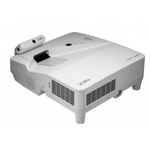 Дигитален проектор Мултимедиен проектор NEC UM301Xi Ultra-short throw projector, LCD, XGA, 3000AL incl. wall-mount + Interactive multipen module, White (снимка 1)