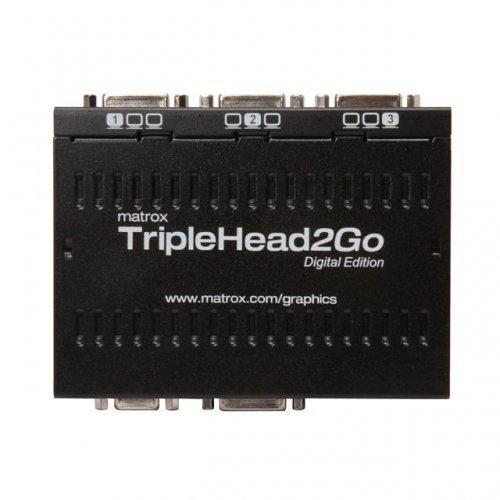 Външен мулти-дисплей адаптер Matrox T2G-D3D-IF за едновременна работа на 3 монитор с DVI/VGA вход (снимка 1)