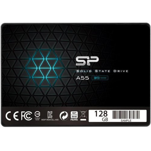 "SSD SILICON POWER 128 GB, A55, 2.5"", SATA3 (снимка 1)"