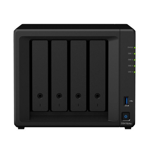 NAS устройство Комплект Synology NAS Server DS418play с 4 дискa Seagate NAS 4TB (снимка 1)