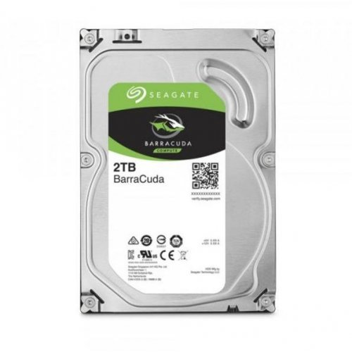 Твърд диск SEAGATE BarraCuda, 2TB, ST2000DM008, 3 год. гаран-я, 256MB, 7200 rpm,  SATA 3 (снимка 1)