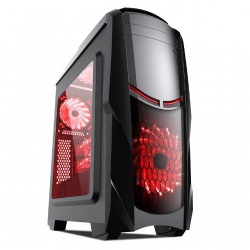 Компютърна кутия Estillo 8801 RED Gaming ATX USB 3.0 (снимка 1)