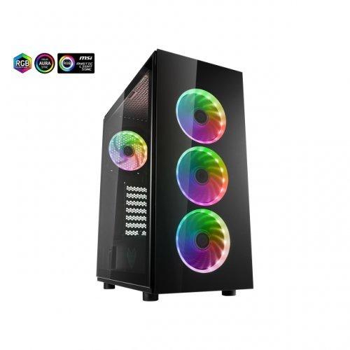 Компютърна кутия FSP CMT340 ARGB Gaming TG, ATX, Черен (снимка 1)