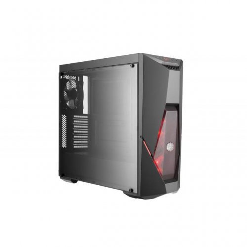 Компютърна кутия Cooler Master MasterBox K500L with 2 x RED LED fan and RED striping (снимка 1)