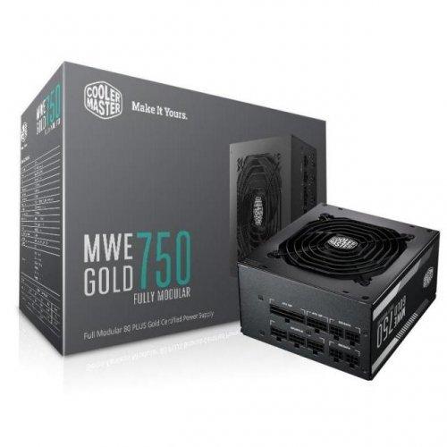Захранващ блок Cooler Master MWE Gold 750W Full Modular, 80 Plus Gold (снимка 1)