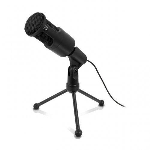 Микрофон EWENT EW3552, филтър за шум, Черен (снимка 1)