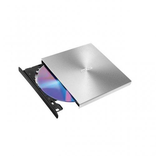 Оптично устройство ASUS ZenDrive U9M Ultra-slim, сребрист, USB Type-C + USB 2.0, външно USB DVD записващо устройство (снимка 1)