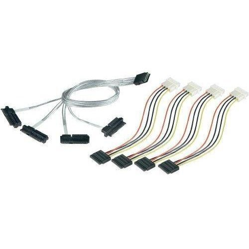 Кабел Интерфейсен кабел Adaptec 2232000-R ACK -I-mSASx4-4SATAx1-SB-0.7m (снимка 1)