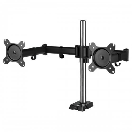 "Dual Monitor Arm with USB Hub ARCTIC Z2 (Gen 3), Регулируема, 34"", 15 кг, 4 x USB 2.0, Black (снимка 1)"