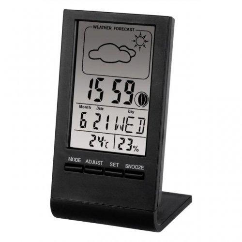Метерологична станция Цифров термометър/хигрометър HAMA TH-100  75297, Черен (снимка 1)