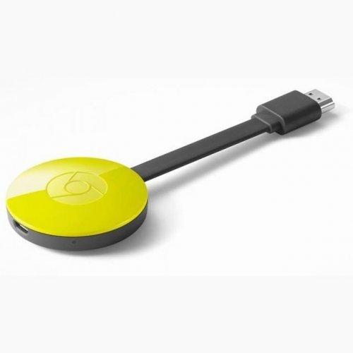 Дигитален плеър Мултимедиен плеър Google Chromecast 2, HDMI, Жълт (снимка 1)