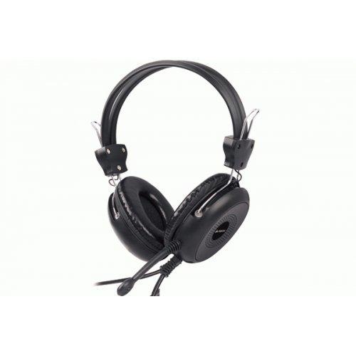 Слушалки A4Tech HS-30, с микрофон, цвят: Черен, 2m кабел, 3.5 mm жак, 20Hz - 20 000Hz, 32 Om, 40 mm диаметър на високоговорителите (снимка 1)