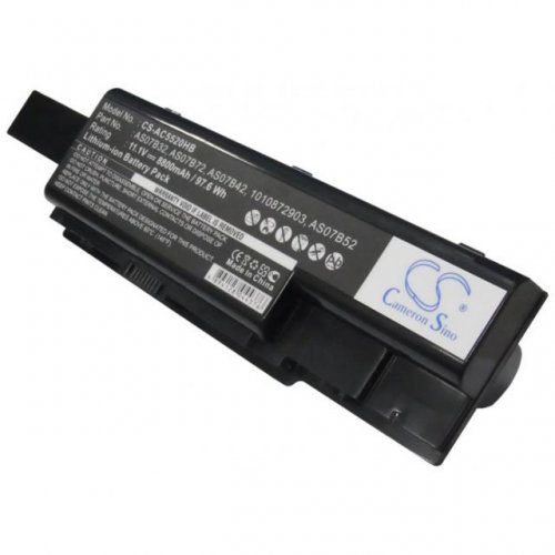 Батерия за лаптоп Cameron sino ACER ASPIRE 5230/5530/5730/5735/ 5739/5930, 11.1V, 8800mAh, Черен (снимка 1)