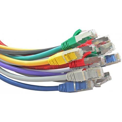 Кабел Patch cable, Пач кабел FTP CAT.5E/6E 1 метър с фабрично прикачени RJ45, различни цветове (снимка 1)
