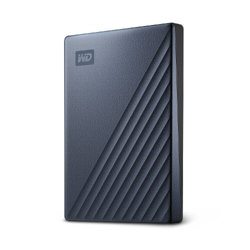 Външен твърд диск Western Digital MyPassport Ultra 2TB, USB-C, Blue Black (3 years warranty) NEW (снимка 1)