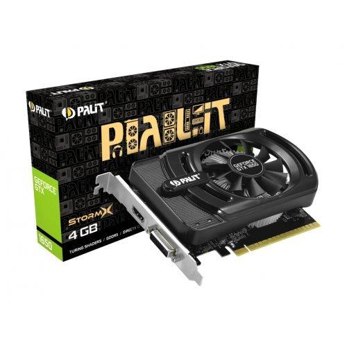 Видео карта nVidia Palit GTX1650 StormX 4GB GDDR5 , 128bit, DVI, HDMI, NE51650006G1-1170F (снимка 1)