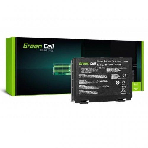 Батерия за лаптоп Asus K40 K50 K50AB K50C K51 K51AC K60 K70 X70 X5DC 10.8V 4400mAh GREEN CELL (снимка 1)