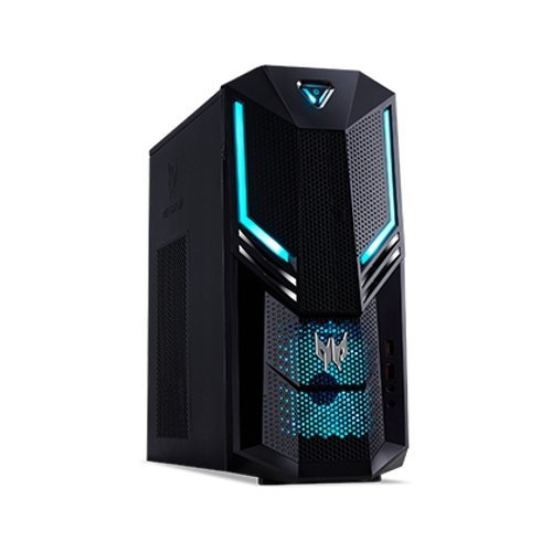 Настолен компютри Acer Acer Predator PO3-600 (Orion 3000) 16L/ Intel Core i7-8700 / up to 4.60GHz, 12MB / NVIDIA GeForce GTX1070 8GB / DVI&HDMI/ 16GB DDR4 /2 TB 7200 RPM / DVD RW/Card READER/WLAN 802.11ac+Bluetooth/Gigabit LAN/ PSU 500W/Predator Blue Keyboard & Mouse USB (снимка 1)