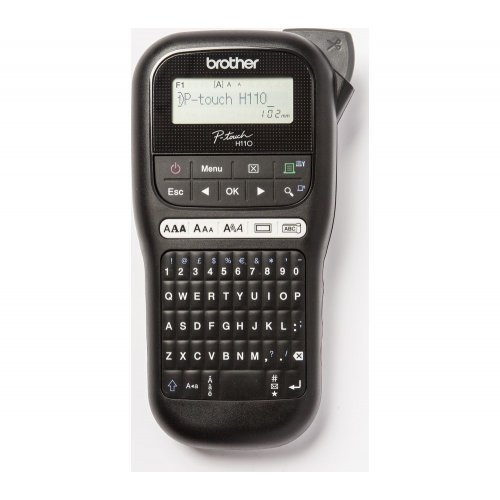 Етикетен принтер BROTHER P-Touch PTH110, Labelling system, Handheld, PC layout keyboard, TZ tapes 3.5 to 12mm, Cutter with replaceable blade, 10 font styles; 250 symbols; 15 frames, 1TZE231(4m) (снимка 1)