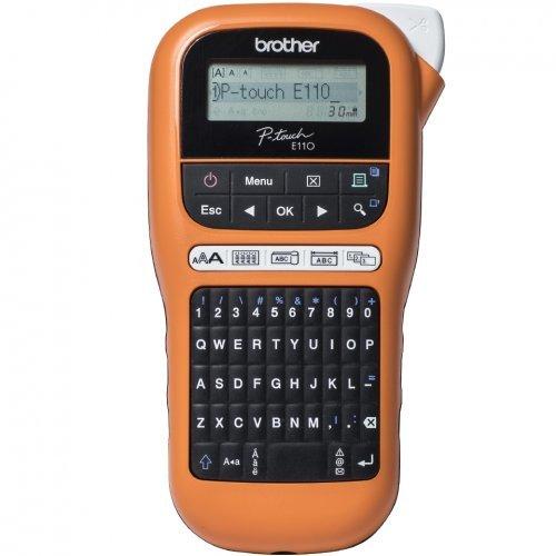 Етикетен принтер Brother P-touch PT-E110VP, етикетен принтер за електротехници, Handheld (снимка 1)