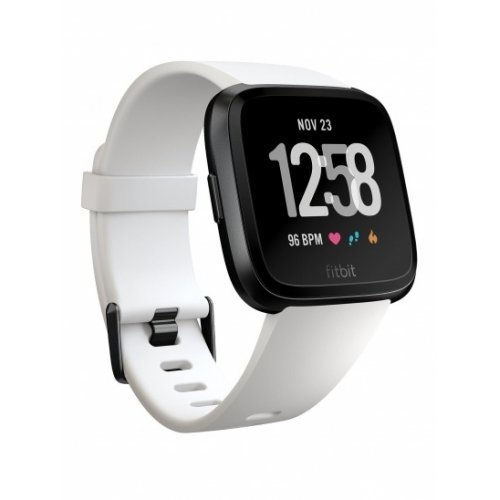 Радиочасовниек Fitbit Versa NFC, White Band, Black Case (снимка 1)
