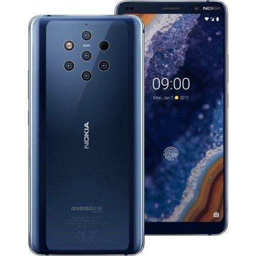 "Смартфон Nokia 9 PureView, RAM/staorage: 6/128 GB, 5.99"" 2K HD, Dual SIM, Midnight Blue (снимка 1)"