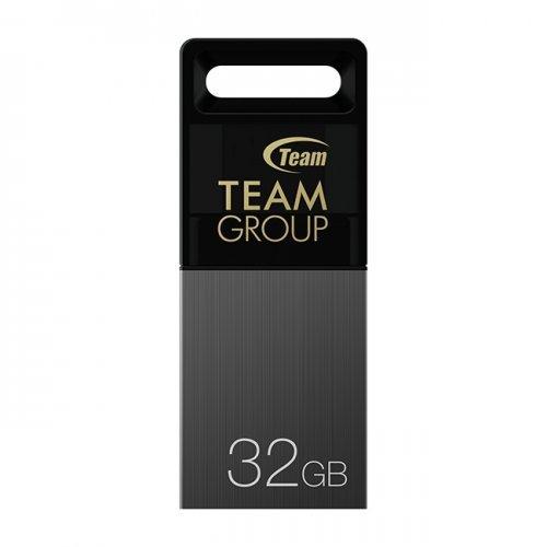 USB флаш памет 16GB Team Group M151, Micro USB(OTG)& USB 2.0, Gray, TM15116GC01 (снимка 1)